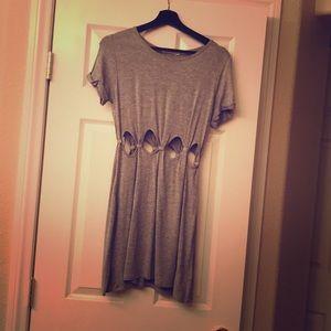 Gray cut out dress